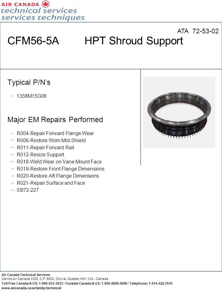 CFM56-5A HPT Shroud Support