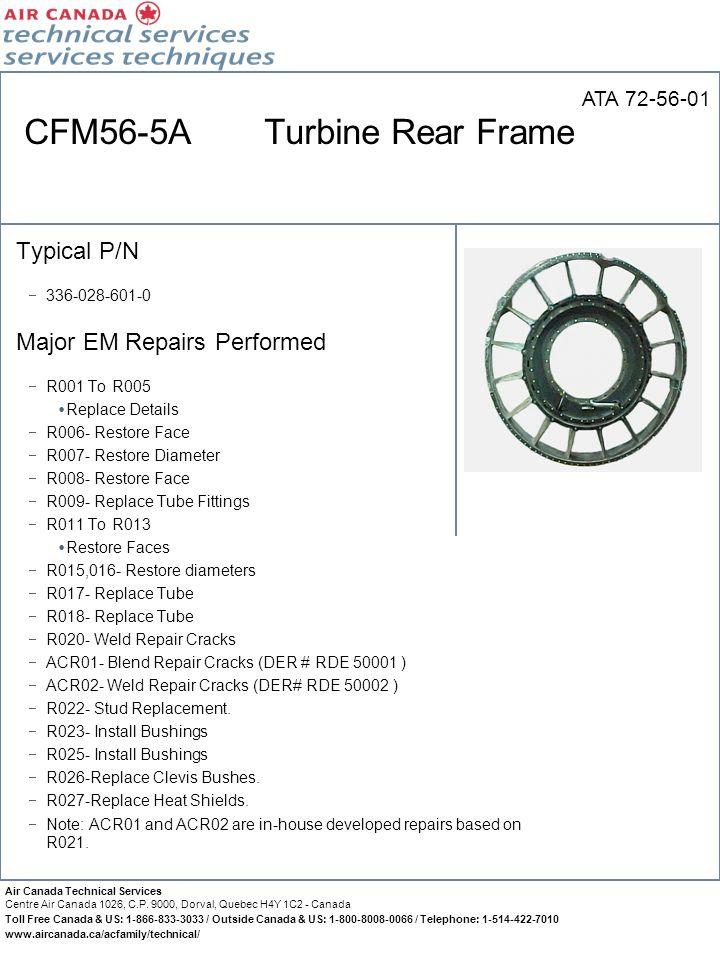 CFM56-5A Turbine Rear Frame