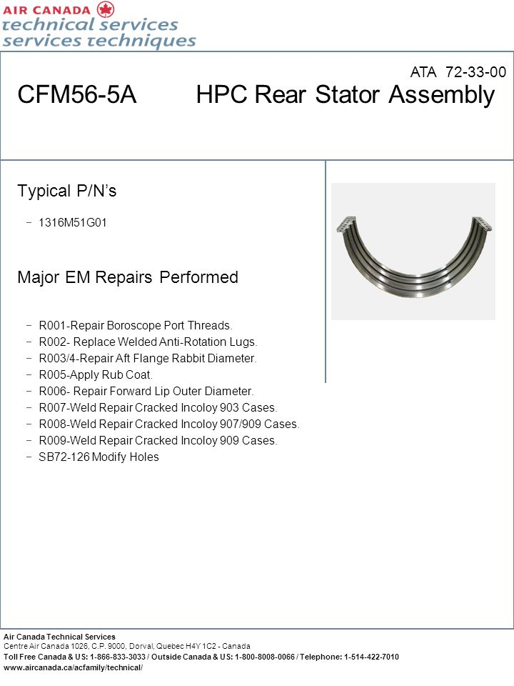 CFM56-5A HPC Rear Stator Assembly