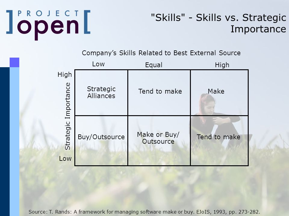 Skills - Skills vs. Strategic Importance