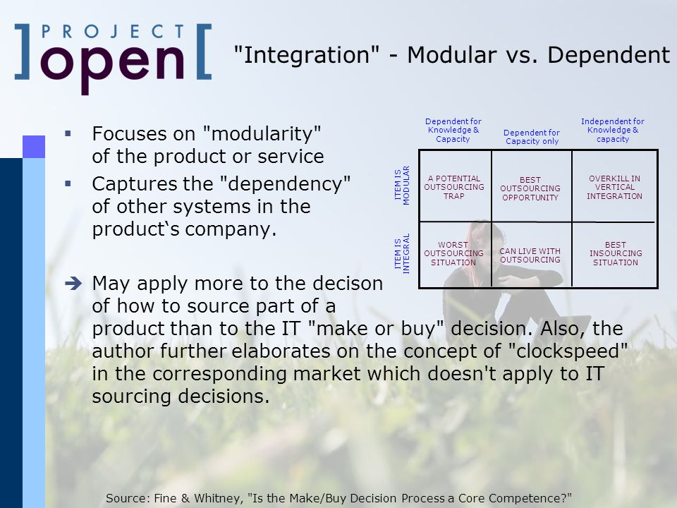 Integration - Modular vs. Dependent