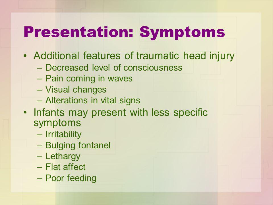 Presentation: Symptoms
