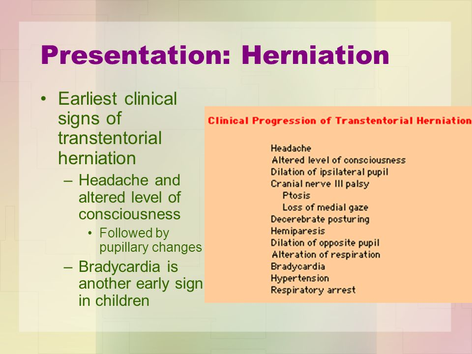 Presentation: Herniation