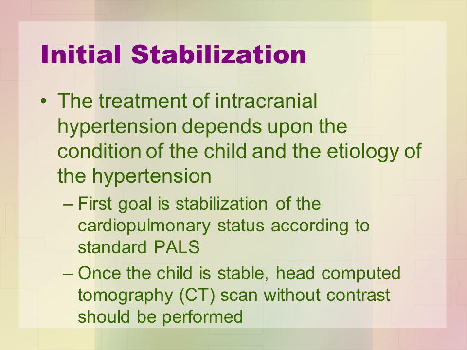 Initial Stabilization
