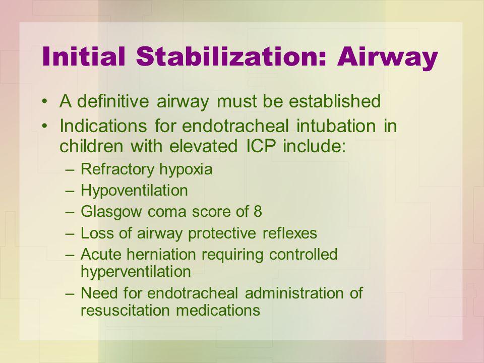 Initial Stabilization: Airway