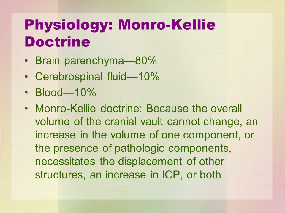 Physiology: Monro-Kellie Doctrine