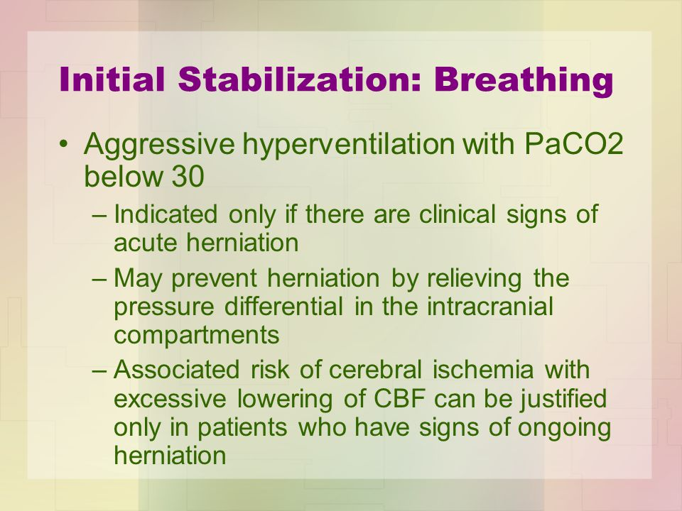Initial Stabilization: Breathing