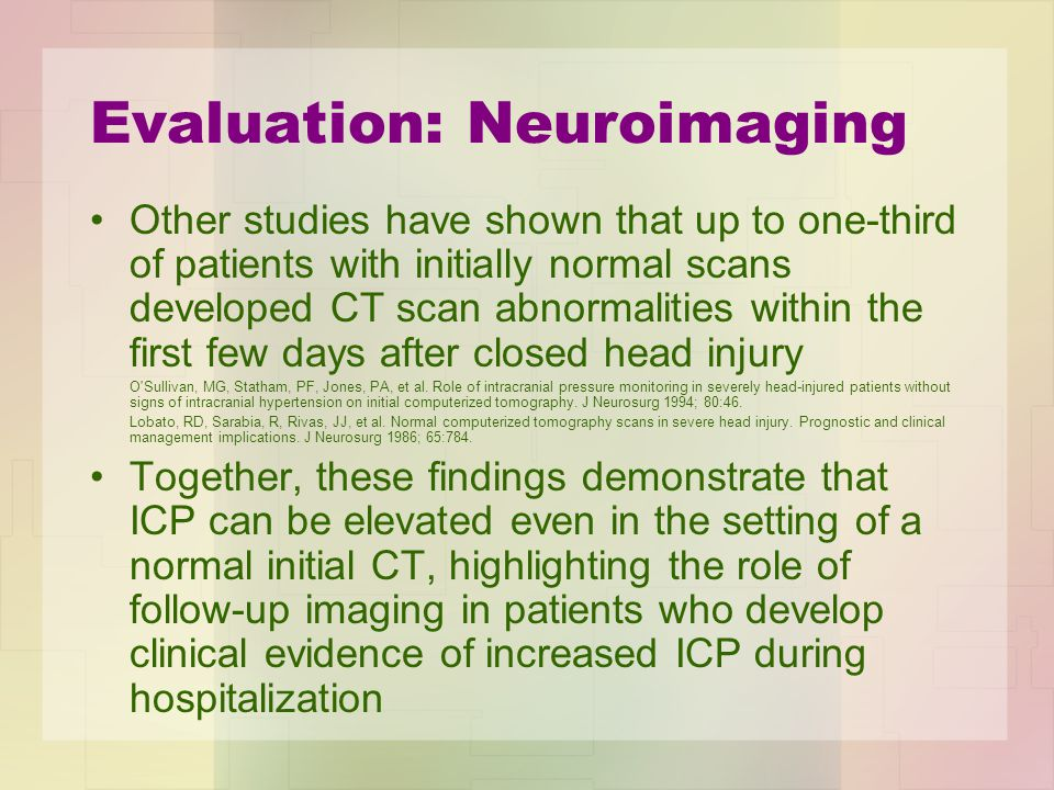 Evaluation: Neuroimaging