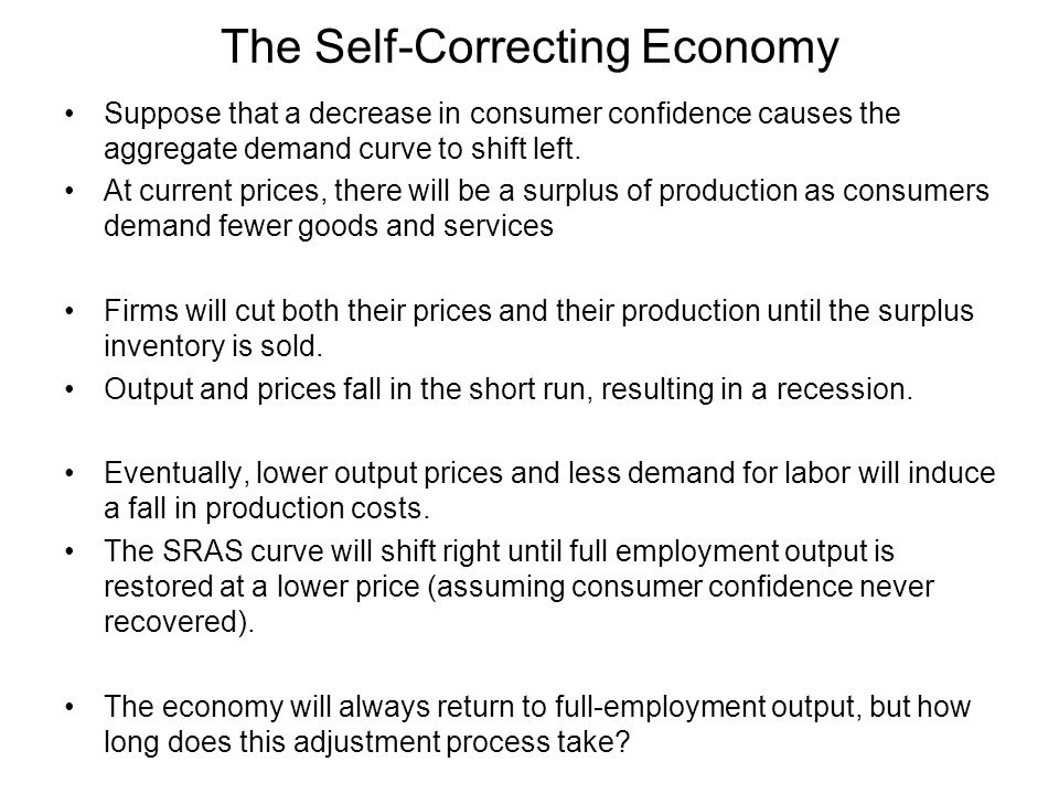 The Self-Correcting Economy