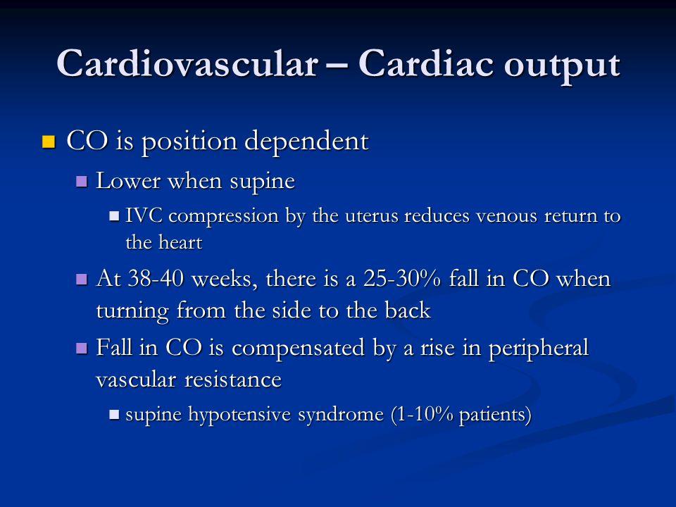 Cardiovascular – Cardiac output
