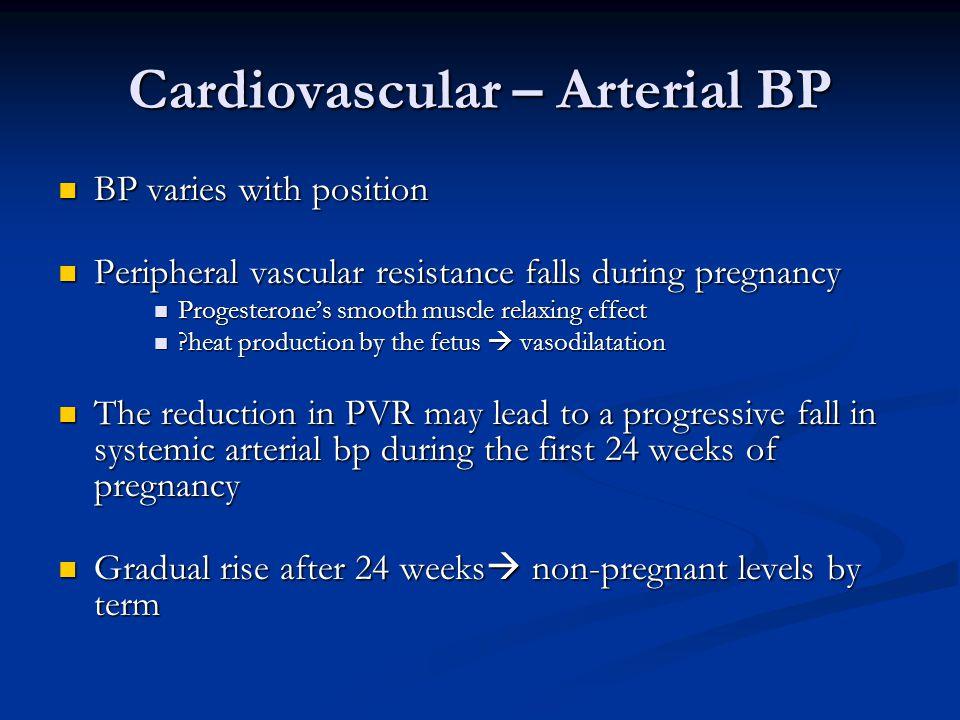 Cardiovascular – Arterial BP