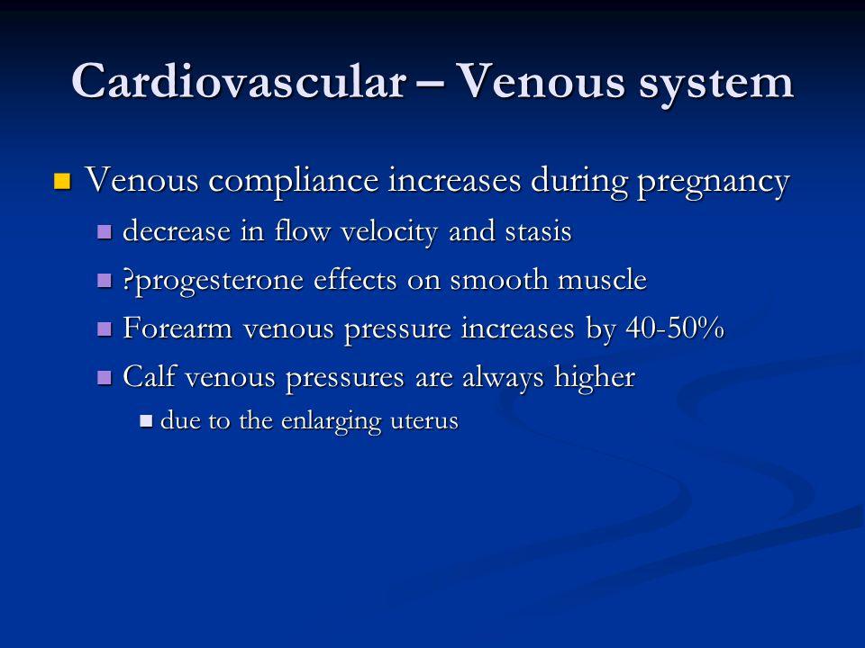 Cardiovascular – Venous system