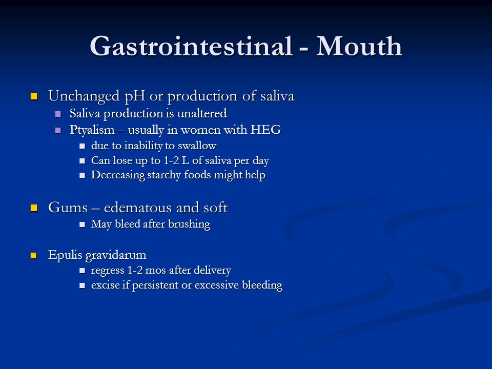 Gastrointestinal - Mouth