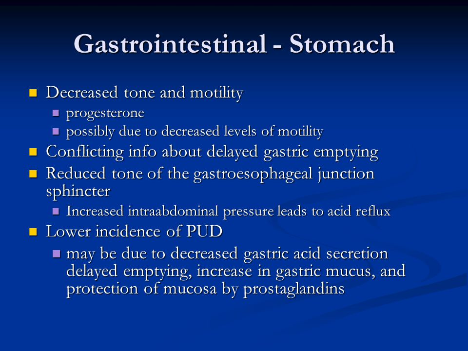 Gastrointestinal - Stomach