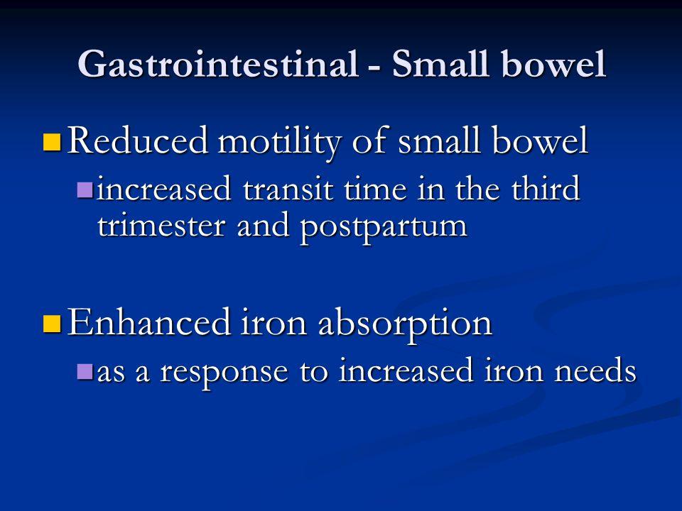 Gastrointestinal - Small bowel