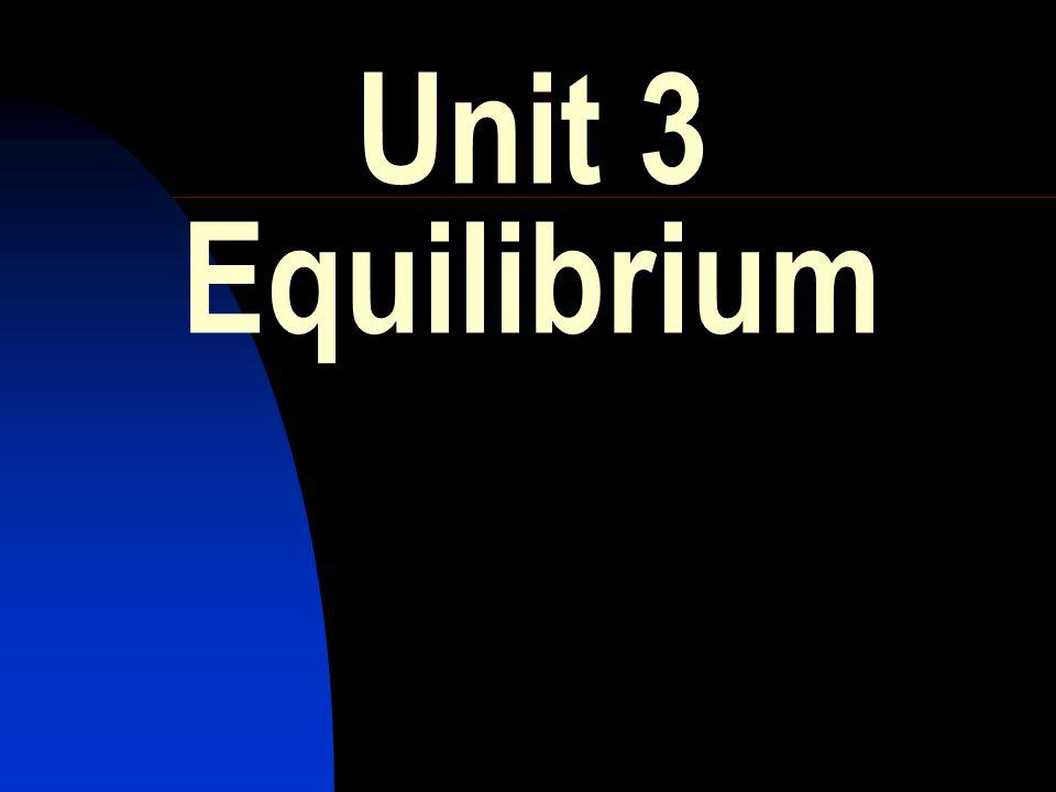 Unit 3 Equilibrium