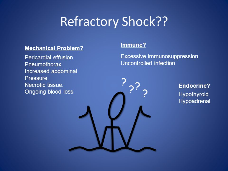 Refractory Shock Immune Mechanical Problem