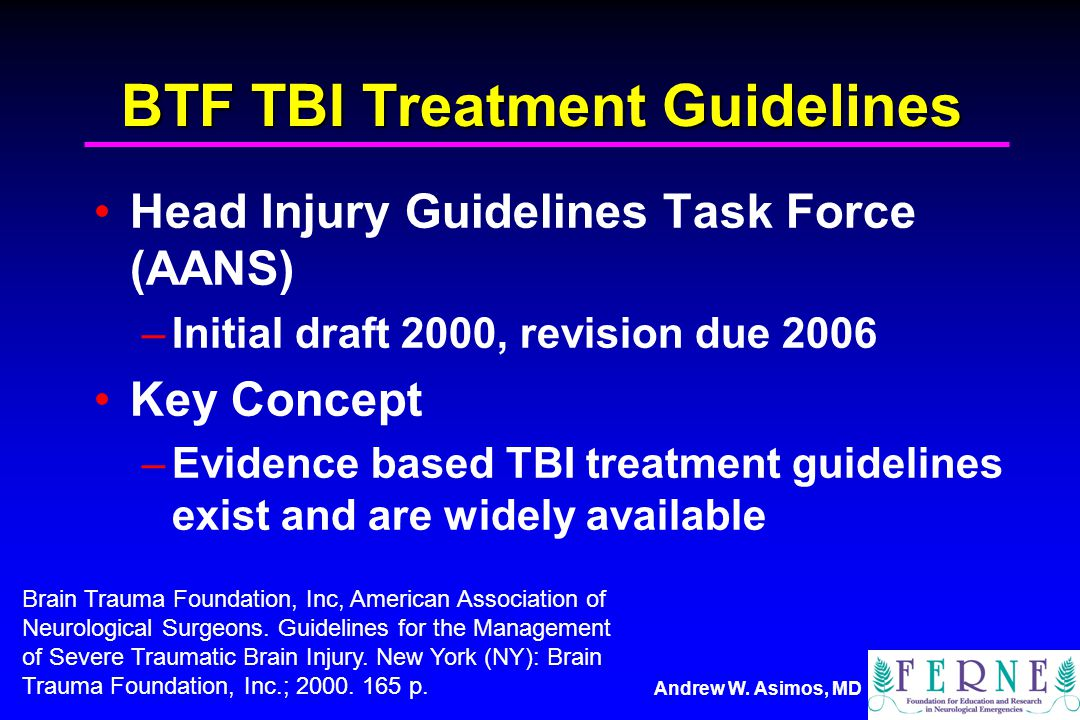 BTF TBI Treatment Guidelines
