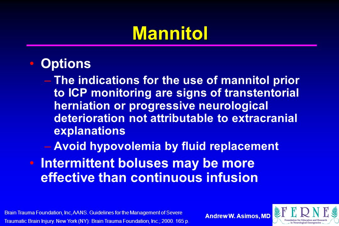 Mannitol Options.