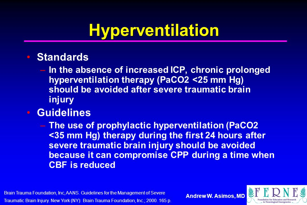 Hyperventilation Standards Guidelines