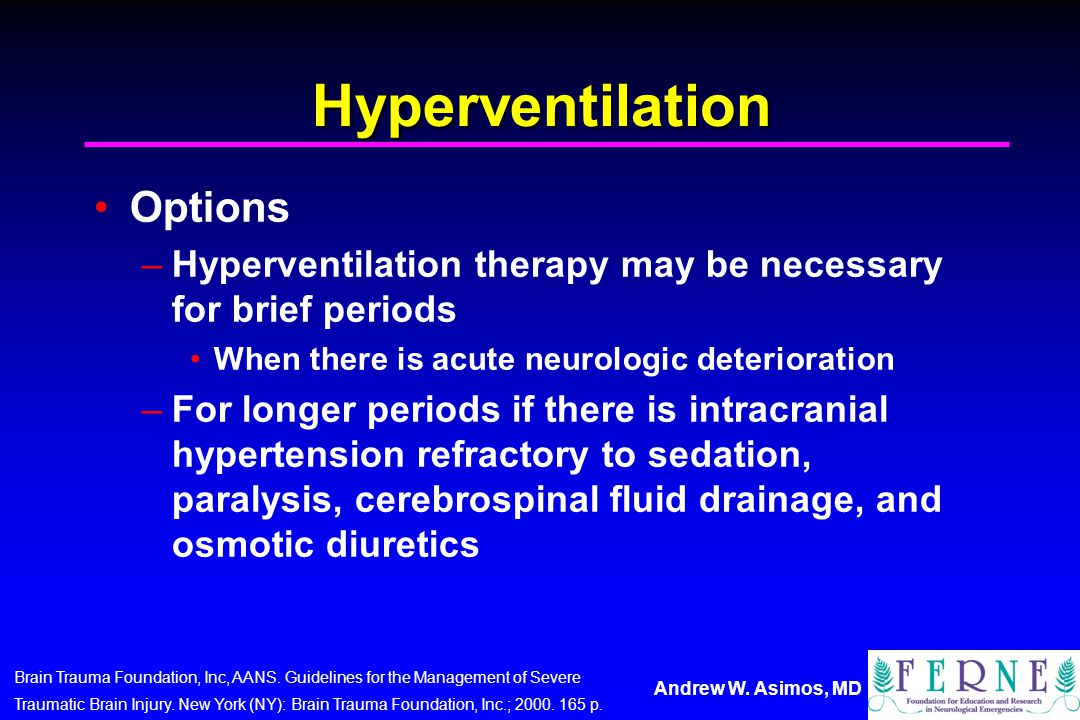 Hyperventilation Options