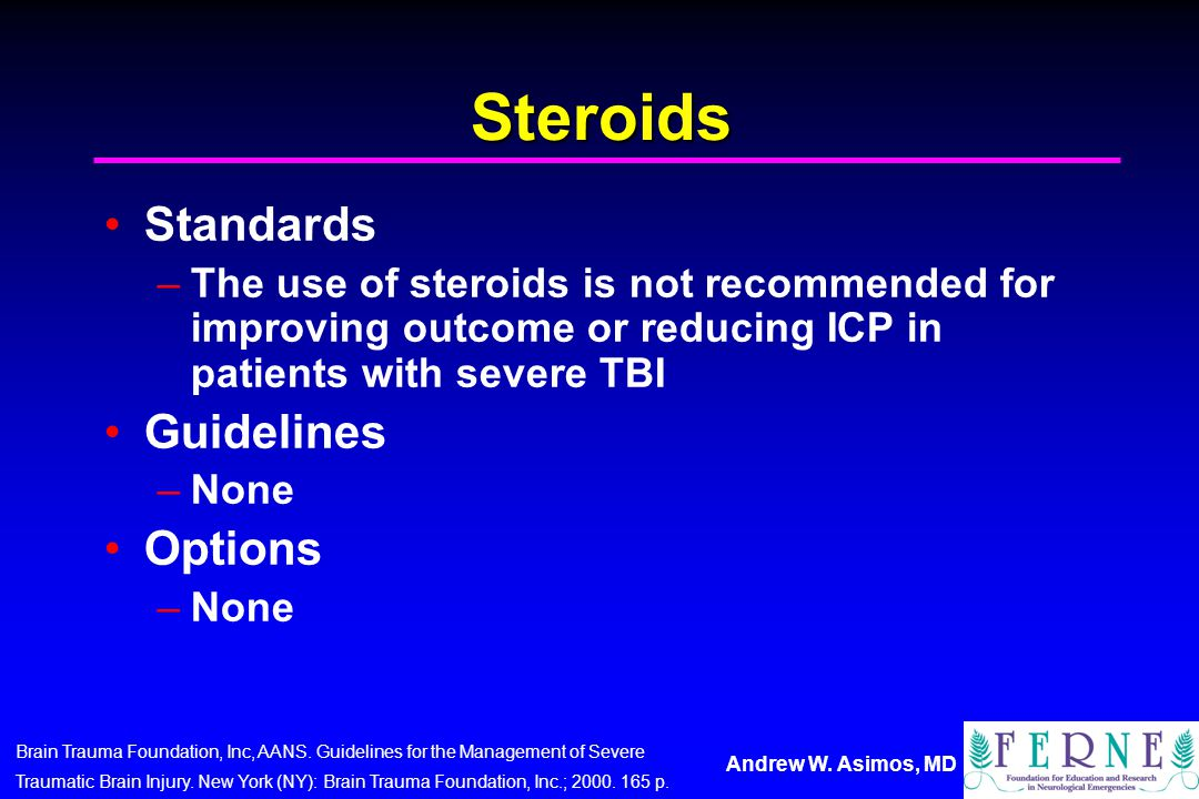 Steroids Standards Guidelines Options