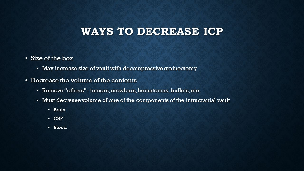 Ways to decrease icp Size of the box