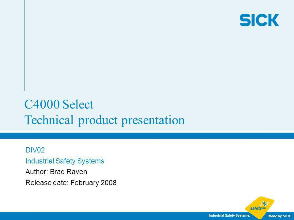 C4000 Select Technical product presentation