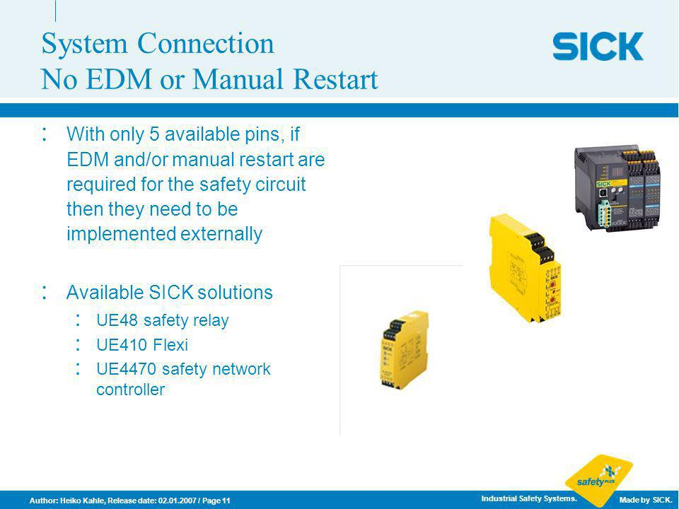 System Connection No EDM or Manual Restart