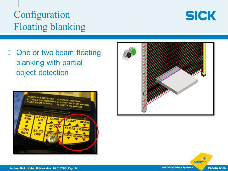 Configuration Floating blanking