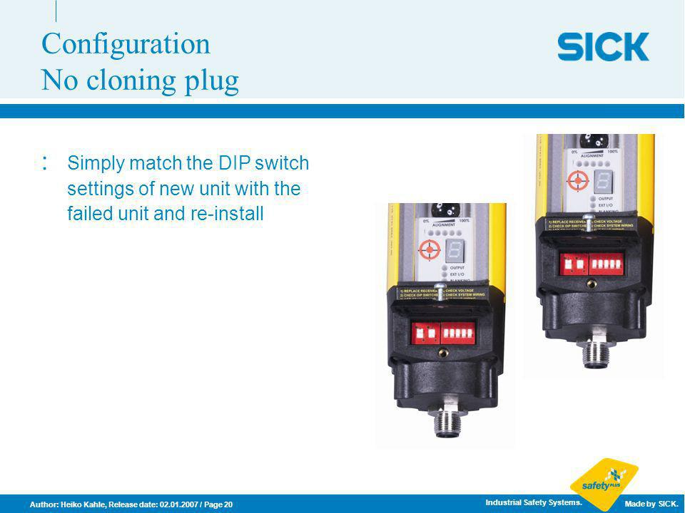 Configuration No cloning plug