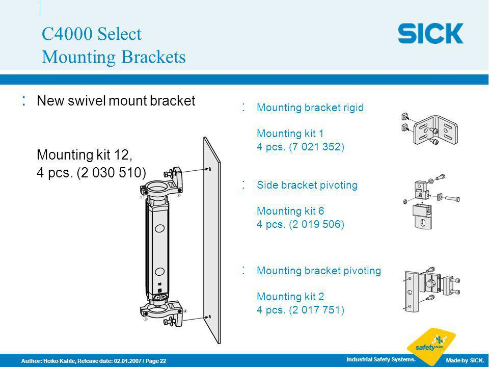 C4000 Select Mounting Brackets