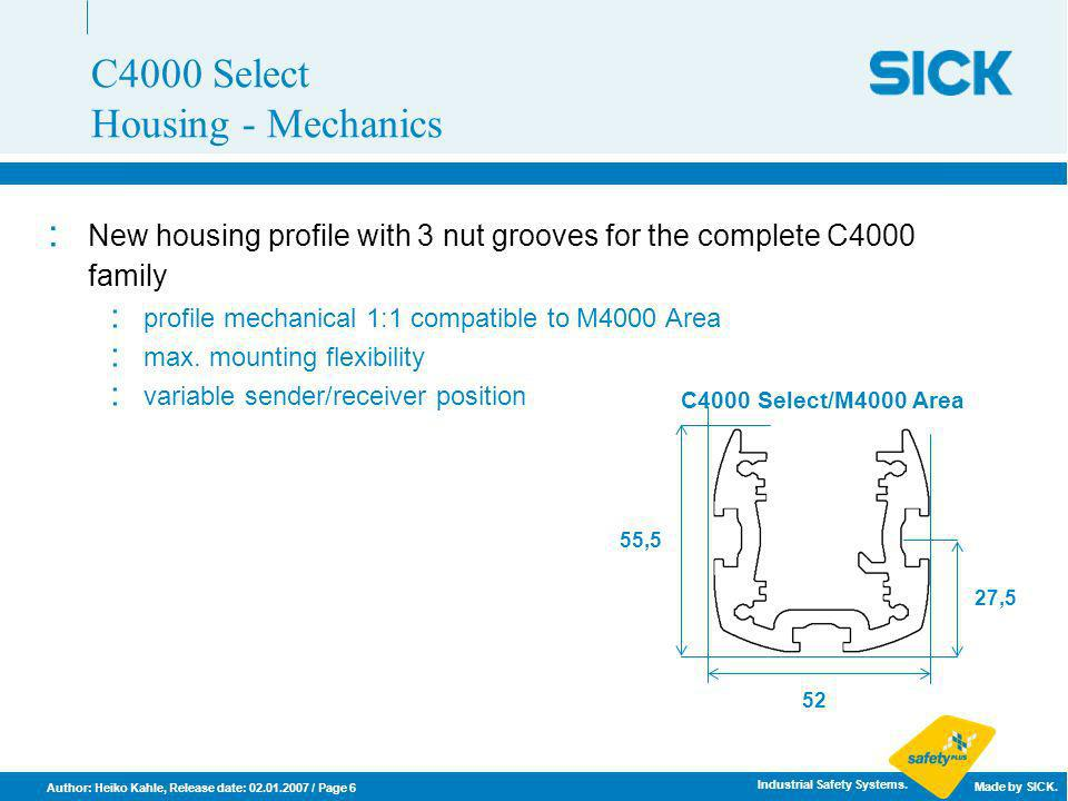 C4000 Select Housing - Mechanics