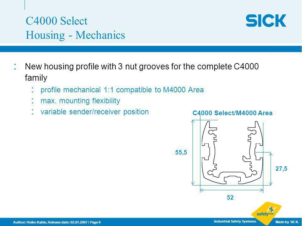 C4000 Select Housing - Mechanics