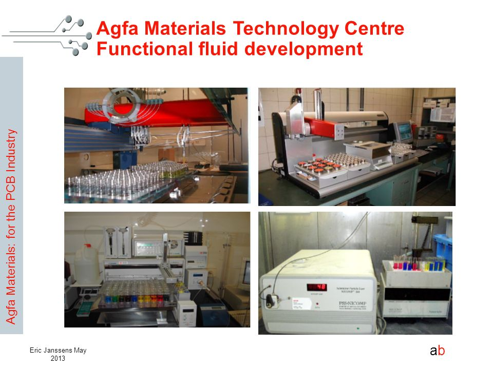 Agfa Materials Technology Centre Functional fluid development