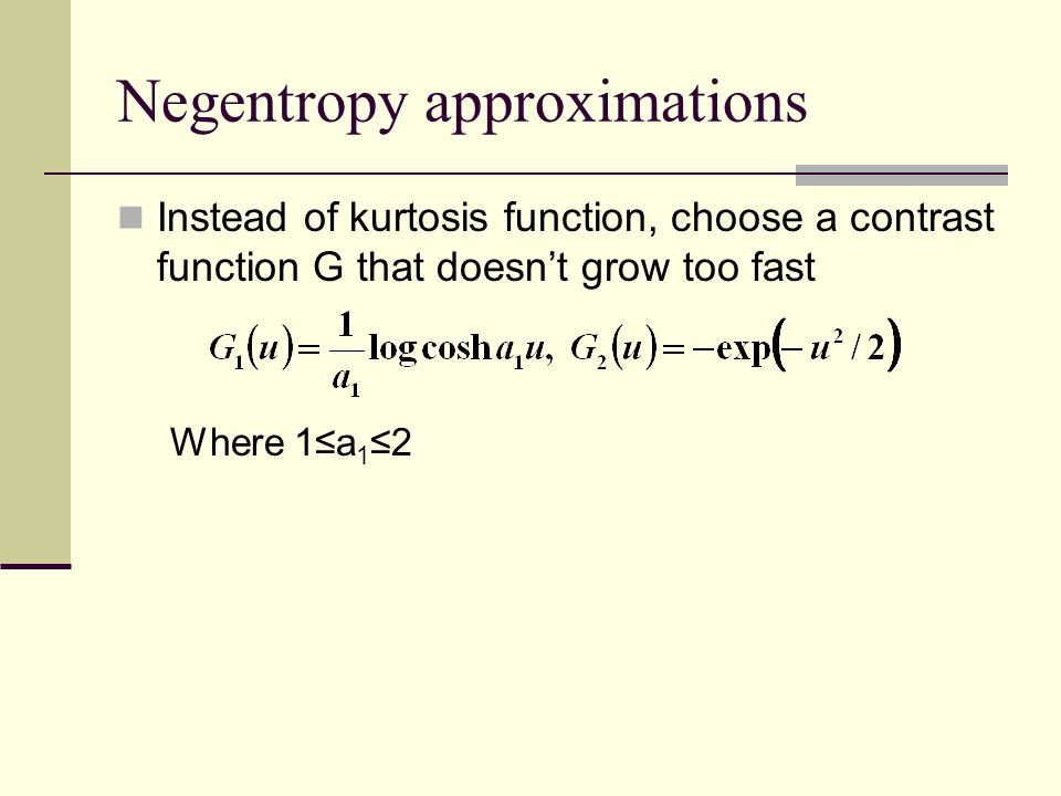 Negentropy approximations