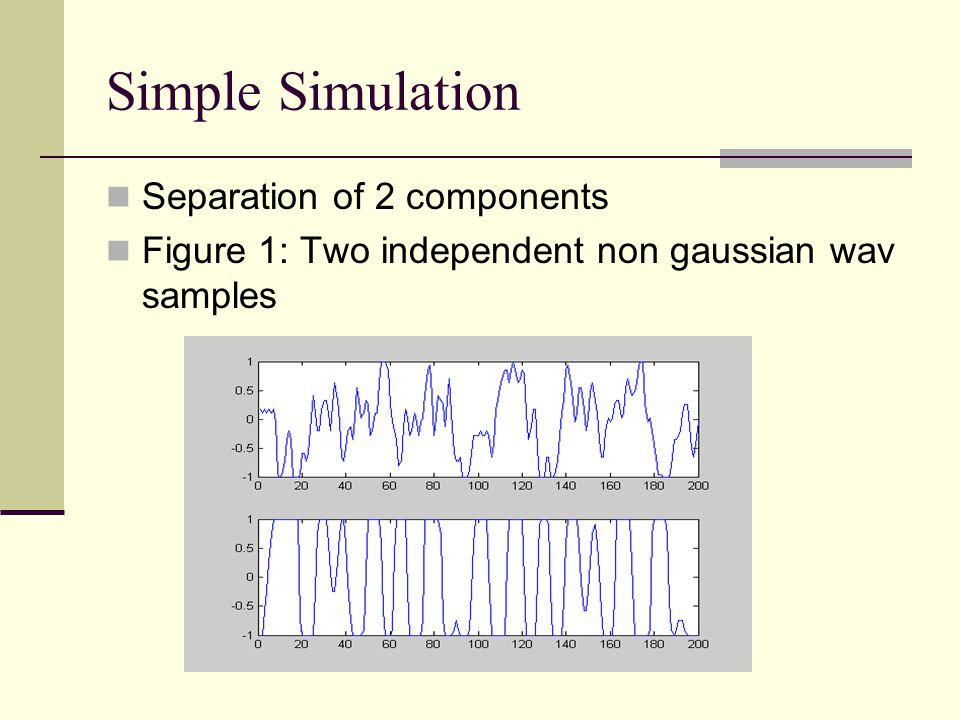 Simple Simulation Separation of 2 components