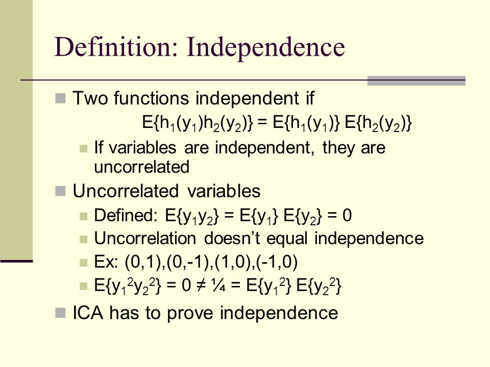 Definition: Independence