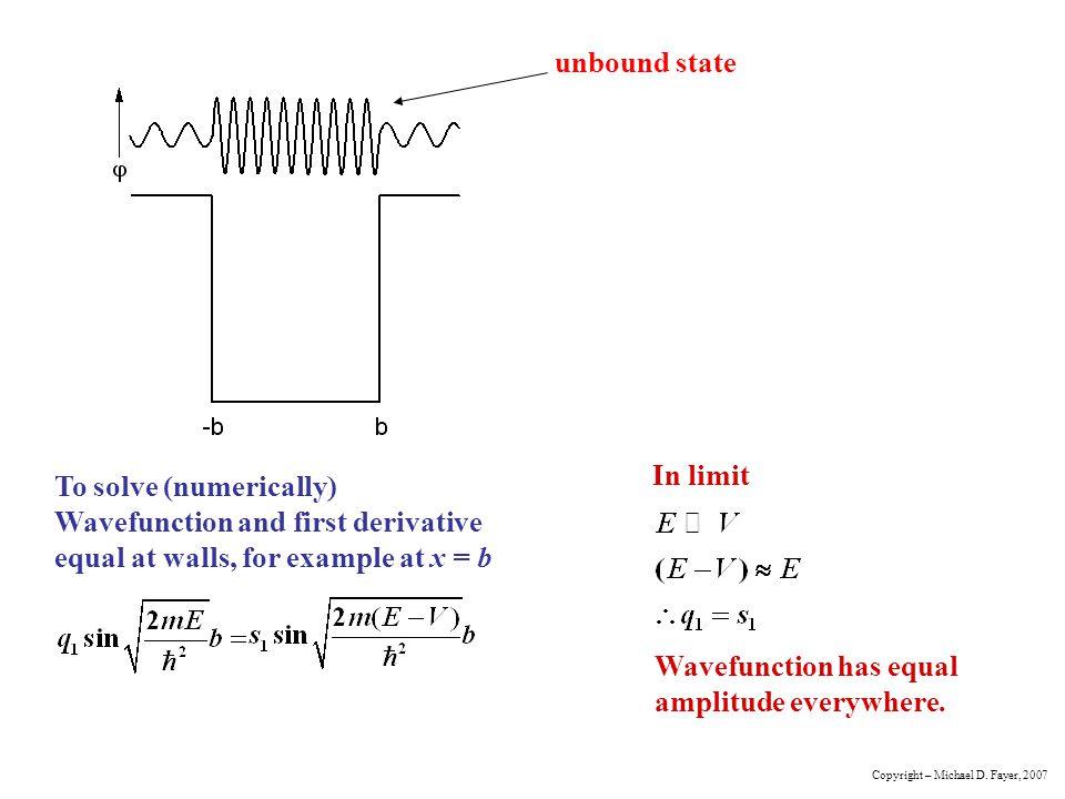 Wavefunction has equal amplitude everywhere.