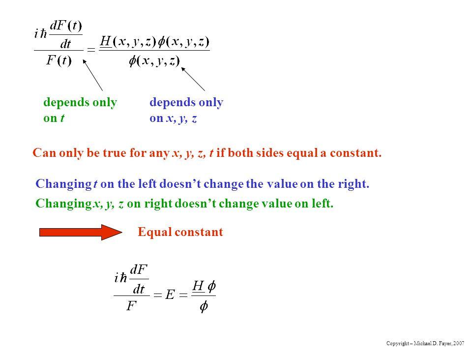Can only be true for any x, y, z, t if both sides equal a constant.