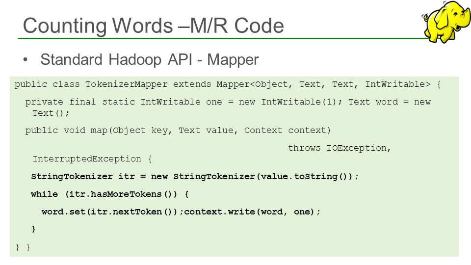 Counting Words –M/R Code