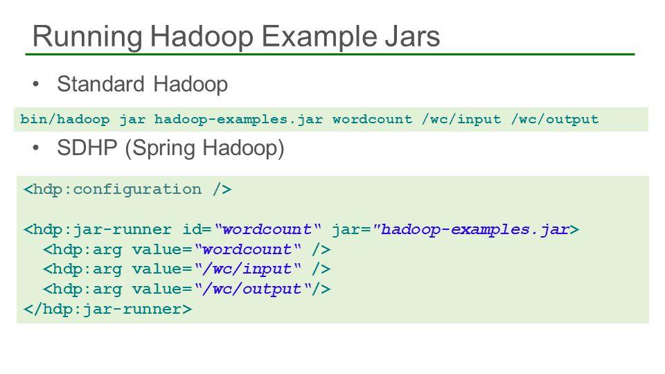 Running Hadoop Example Jars
