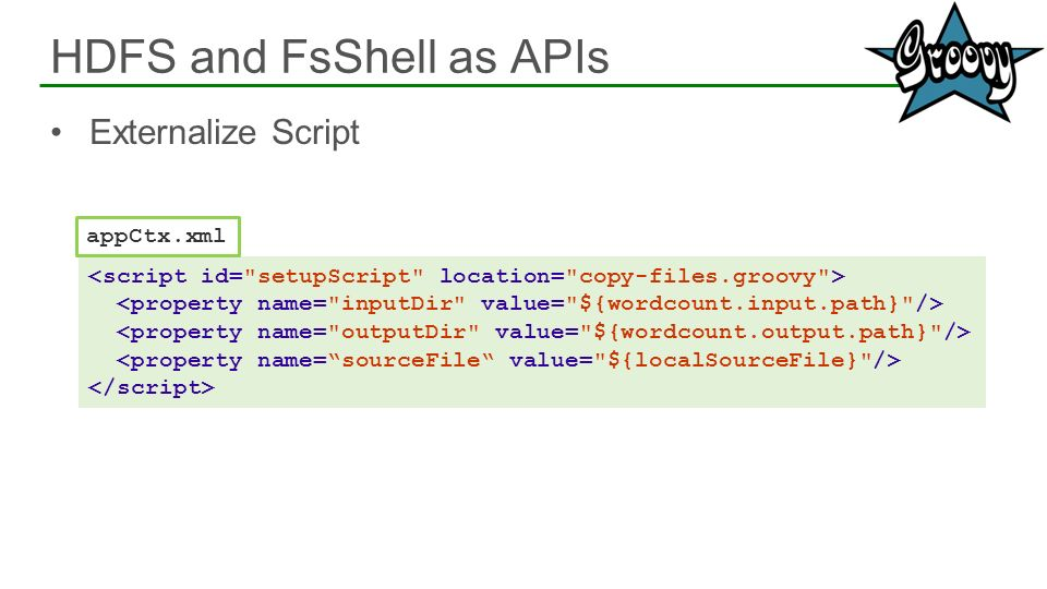 HDFS and FsShell as APIs