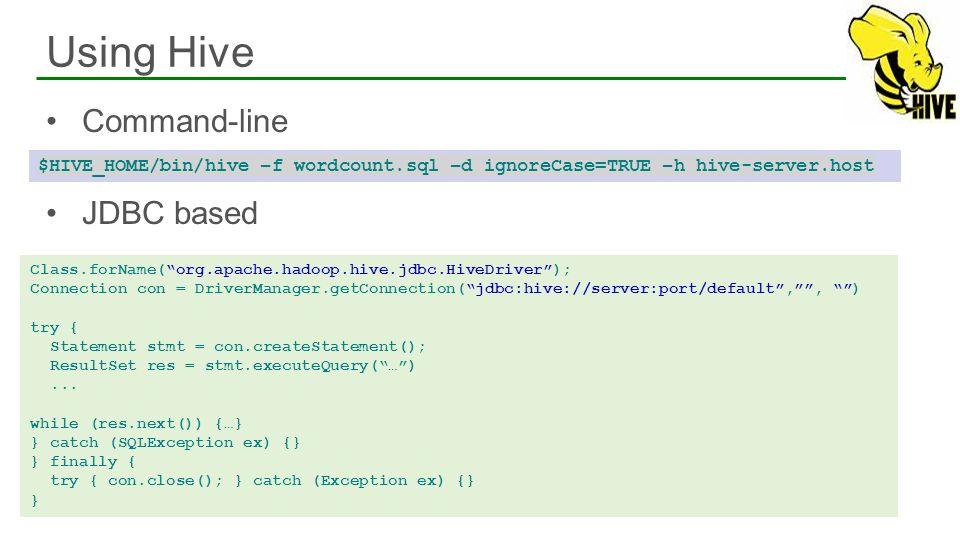 Using Hive Command-line JDBC based