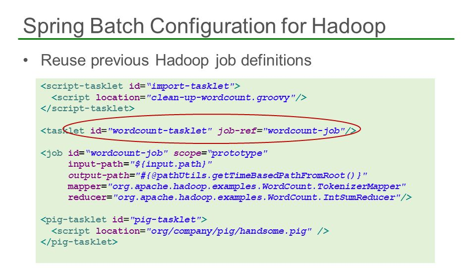 Spring Batch Configuration for Hadoop