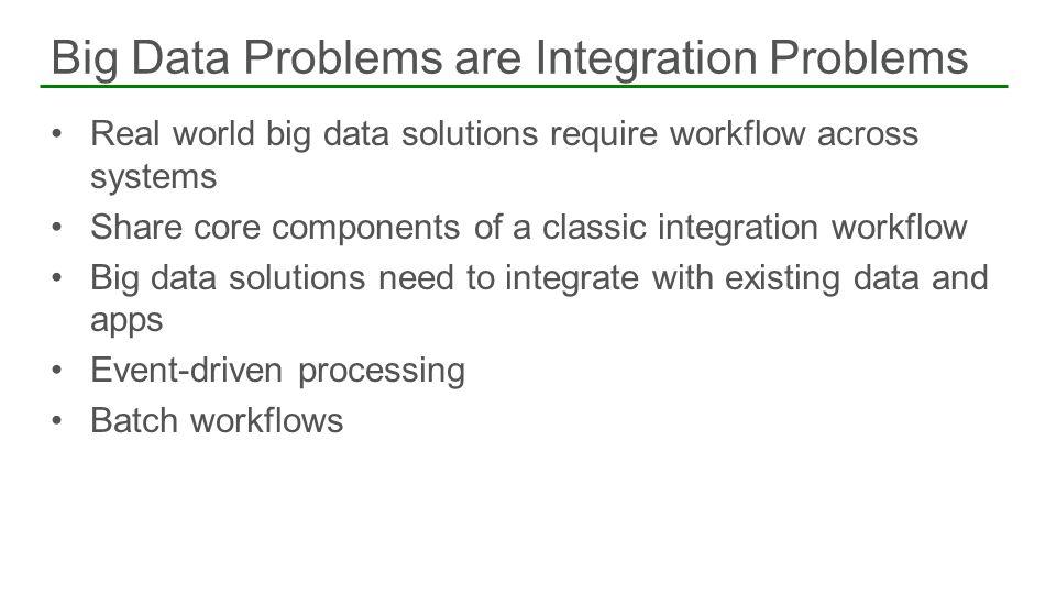 Big Data Problems are Integration Problems
