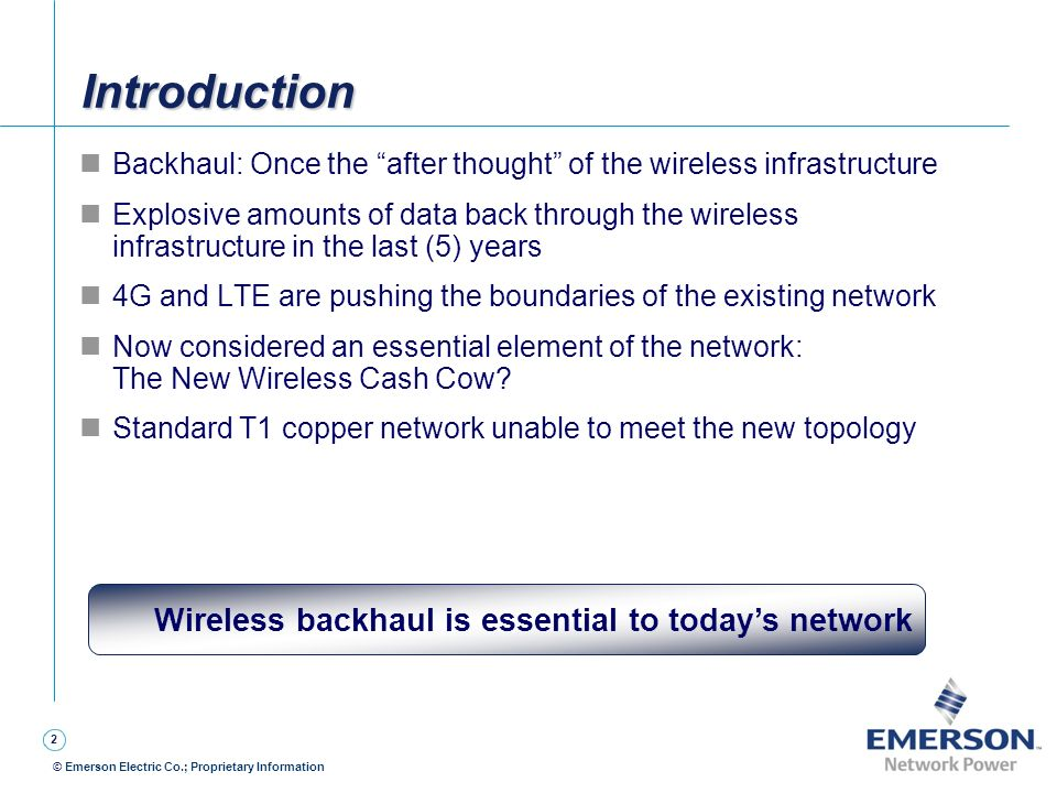 Wireless backhaul is essential to today's network