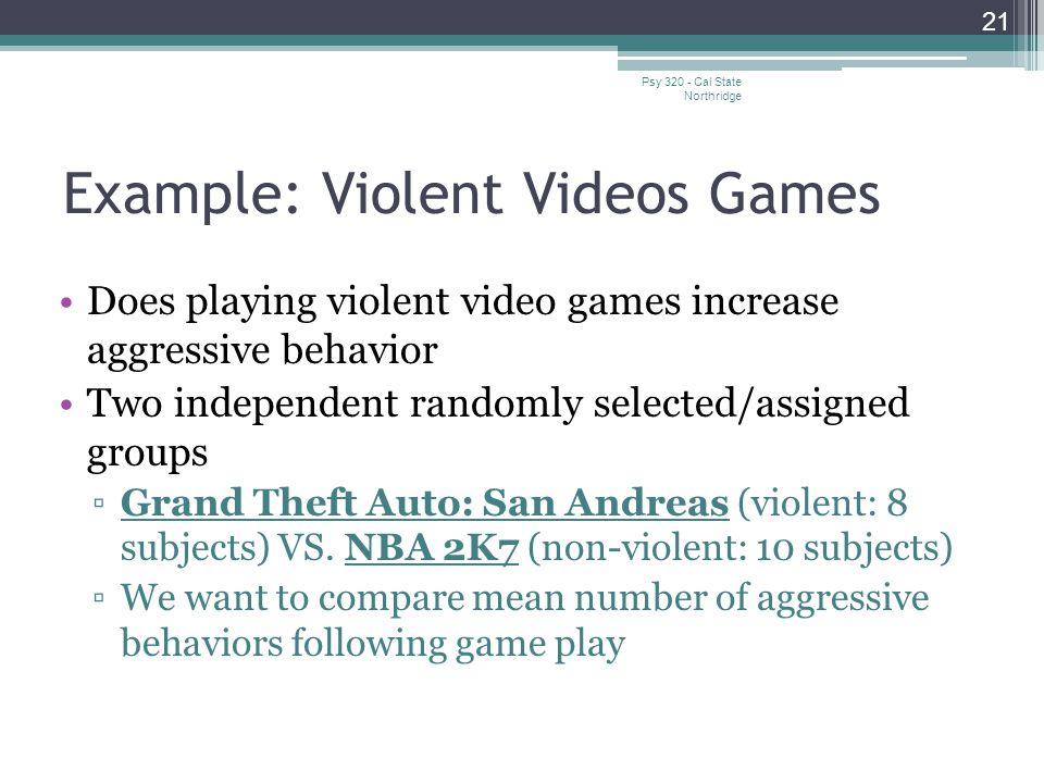 Example: Violent Videos Games