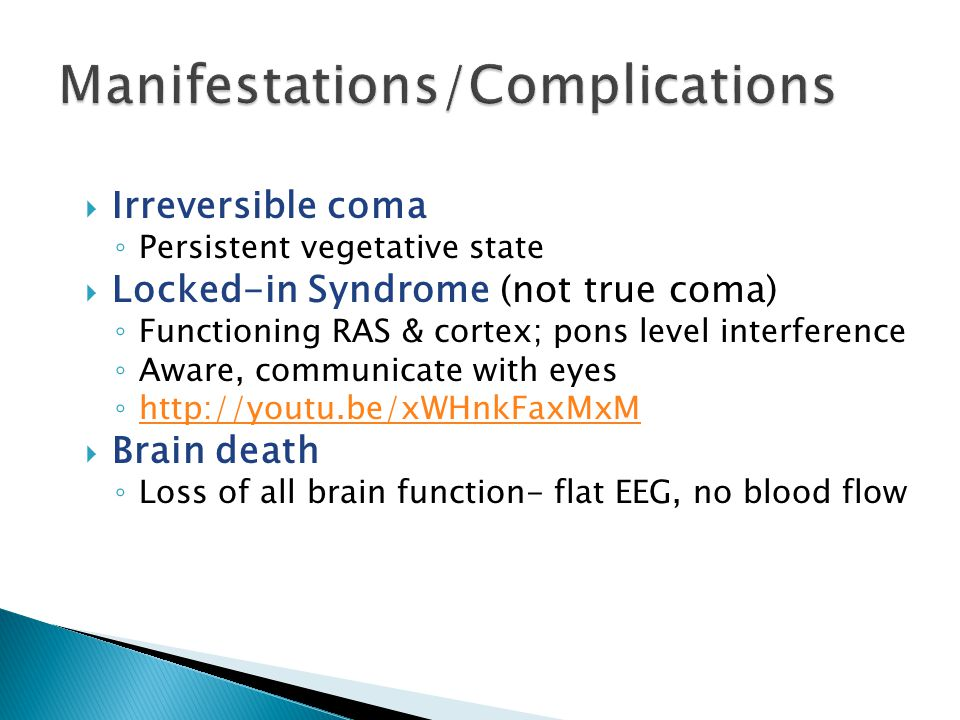 Manifestations/Complications