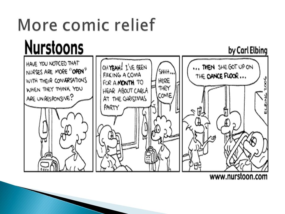 More comic relief